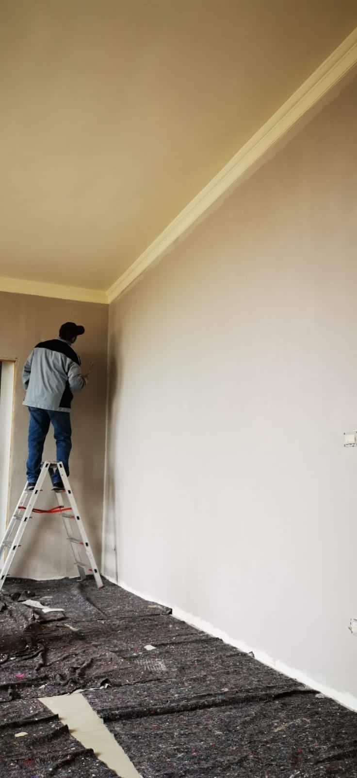 Isolare Parete Interna A Nord lavori di tinteggiatura pareti con tempera colorata asti